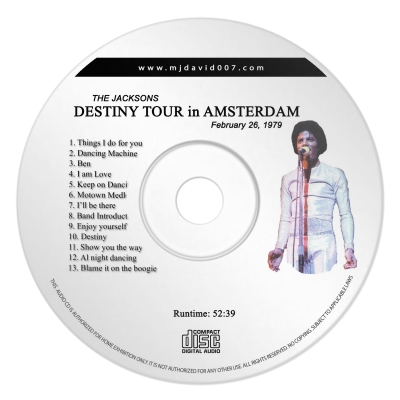 Jacksons Destiny Amsterdam Audio concert
