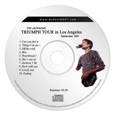 Jacksons Triumph Tour Los Angeles Audio concert