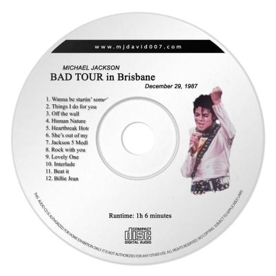 Michael Jackson Bad Brisbane Audio concert