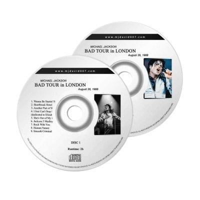 Michael Jackson Bad London august Audio concert