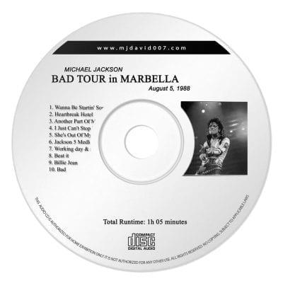 Michael Jackson Bad Marbella Audio concert