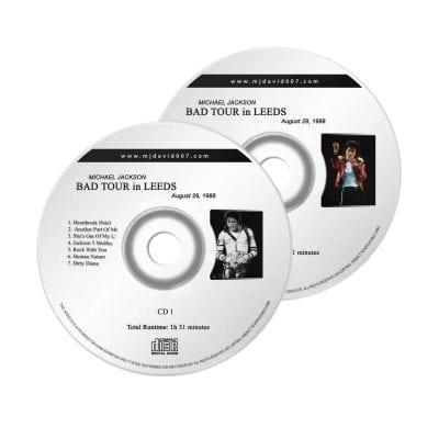 Michael Jackson Bad Leeds Audio concert