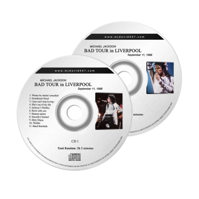 Michael Jackson Bad Liverpool Audio concert