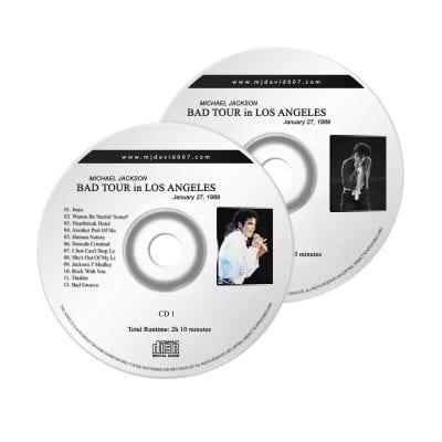 Michael Jackson Bad Los Angeles Audio concert