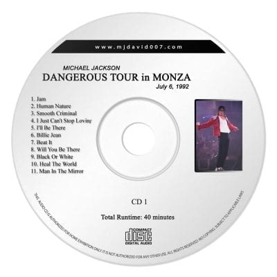 Michael Jackson Dangerous Monza Audio concert