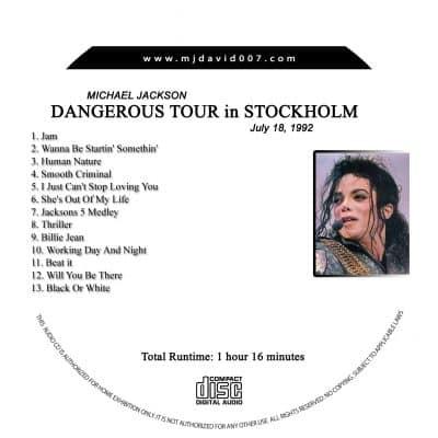 Michael Jackson Dangerous Stockholm second night Audio concert