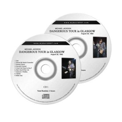 Michael Jackson Dangerous Glasgow Audio concert