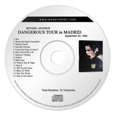 Michael Jackson Dangerous Madrid Audio concert