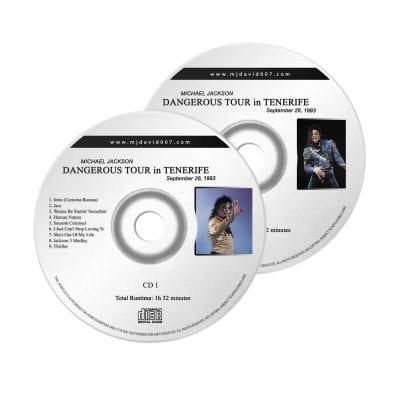 Michael Jackson Dangerous Tenerife Audio concert