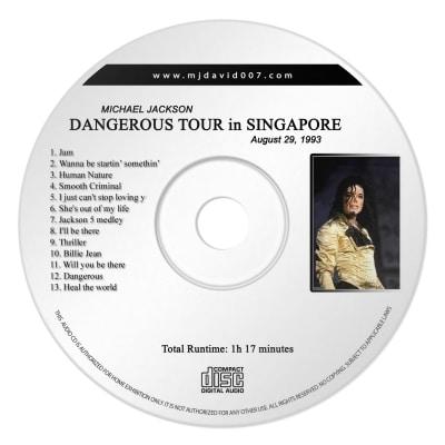 Michael Jackson dangerous Singapore Audio concert