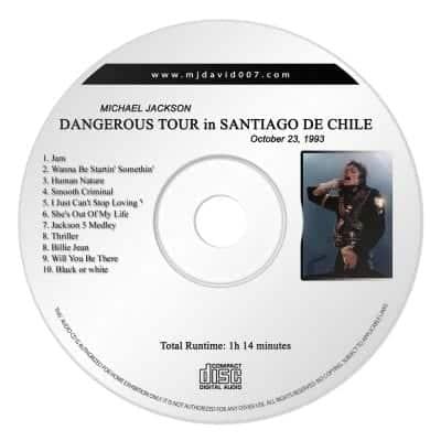 Michael Jackson Dangerous Santiago de Chile Audio concert
