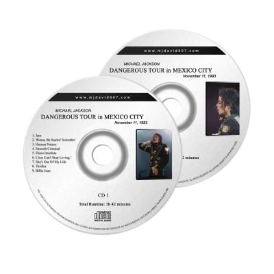 Michael Jackson Dangerous Mexico Audio concert