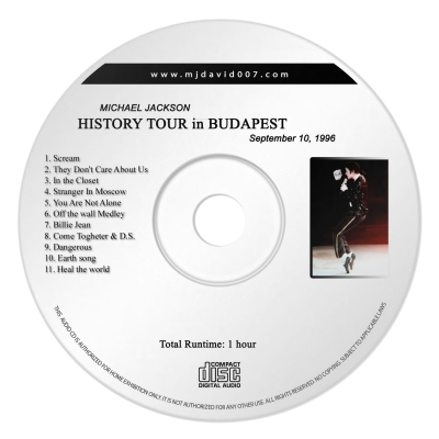 Michael Jackson History Budapest Audio concert