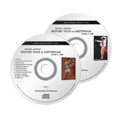 Michael Jackson History Amsterdam October Audio concert