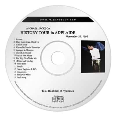 Michael Jackson History Adelaide Audio concert