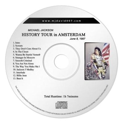 Michael Jackson History Amsterdam 8 june Audio concert