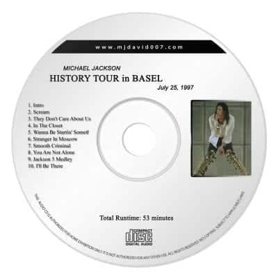 Michael Jackson History Basel Audio concert