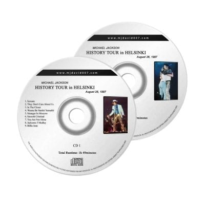 Michael Jackson History Helsinki Audio concert