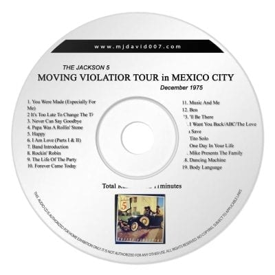 Jacksons Moving Violation Audio concert