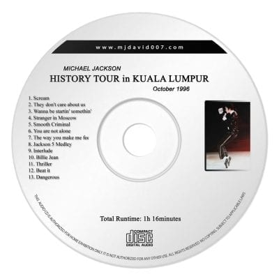 Michael Jackson Kuala Lumpur Audio concert