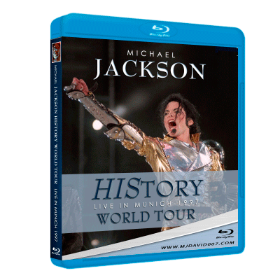 Bluray cover for History Tour in Munich