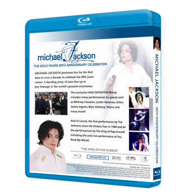 Michael Jackson 30th Anniversary Bluray back
