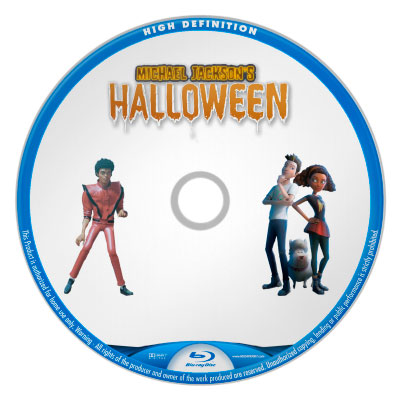 Michael Jackson's Hallowen bluray disc label