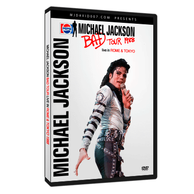 Dvd cover for Bad Tour live in Tokyo and Rome 1988
