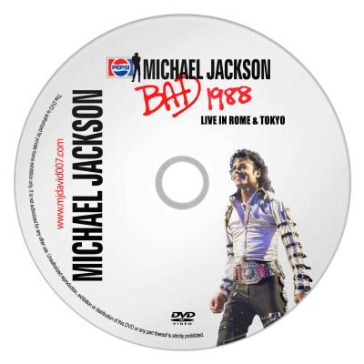 Actual image of Michael Jackson's Bad Tour in Rome and Tokyo dvd
