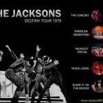 Dvd menu for the Jacksons Destiny Tour