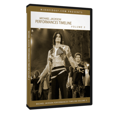 Michael Jackson Performance Timeline Volume 3 dvd cover