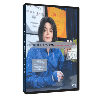 Michael Jackson Invincible Virgin dvd