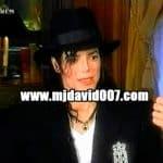 Michael Jackson dressed in black