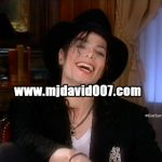 Michael Jackson laughing with Barbara Walters