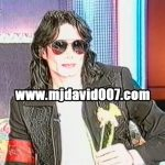 Michael Jackson holding a flower