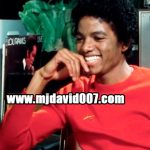 Michael Jackson laughing with Sylvia Chase