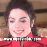Michael Jackson laughing dressed in red