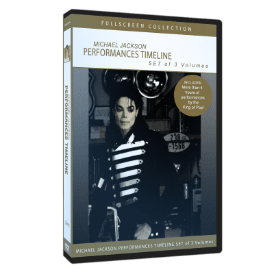Michael Jackson Performances Timeline dvd box