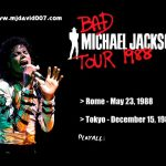 Dvd menu of Michael Jackson's Bad Tour in Rome and Tokyo 1988